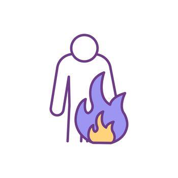 Anger feelings RGB color icon