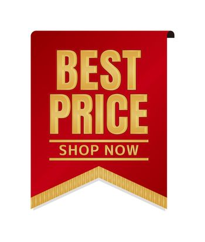 Best price icon illustration set for ecommerce site etc. ( vintage flag motif )
