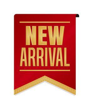 New arrival icon illustration for ecommerce site etc. ( vintage flag motif )