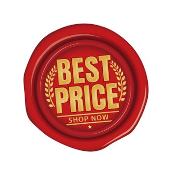Best price icon illustration  for ecommerce site etc. ( sealing wax motif )