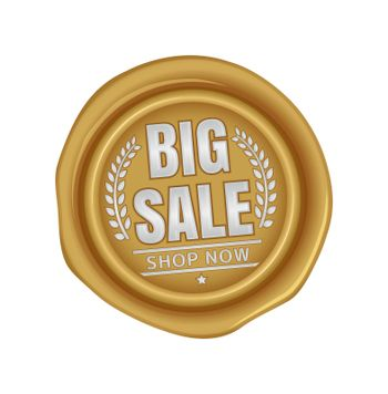 Big sale icon illustration  for ecommerce site etc. ( sealing wax motif )