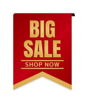 Big sale icon illustration set for ecommerce site etc. ( vintage flag motif )