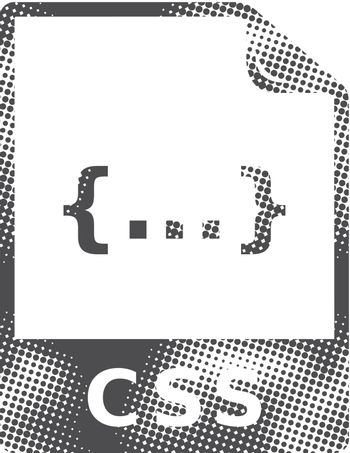 Halftone Icon - CSS file format