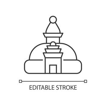 Swayambhu stupa linear icon