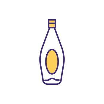Liquor bottle RGB color icon