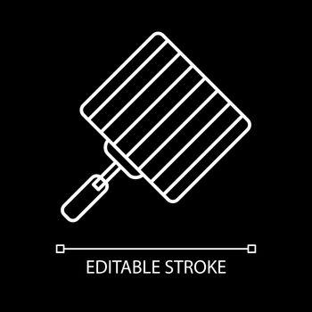 Grill grate white linear icon for dark theme