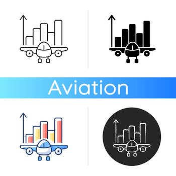 Aviation analytics icon