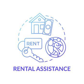 Rental assistance concept icon