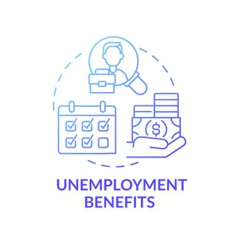 Unemployment benefits concept icon
