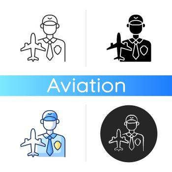 Aviation security icon