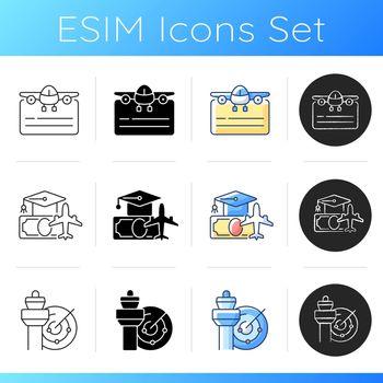 Aviation icons set