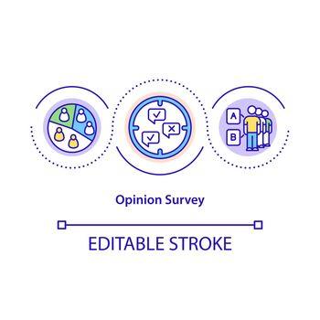 Opinion survey concept icon