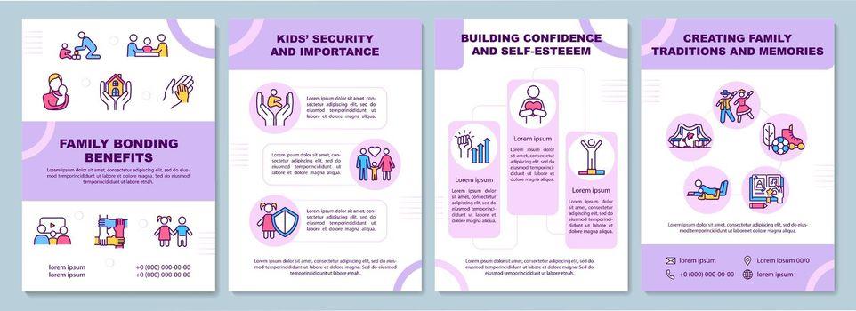 Family bonding benefits brochure template