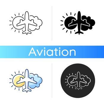 Aeronautical meteorology icon