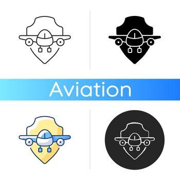 Aviation safety icon