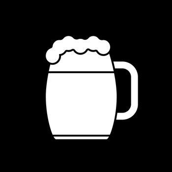 Beer mug dark mode glyph icon