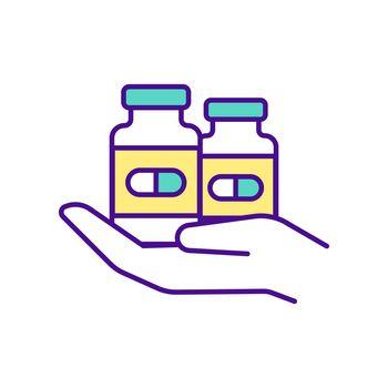 Available medicines RGB color icon