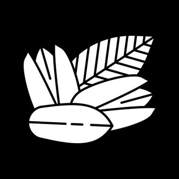 Pistachios dark mode glyph icon