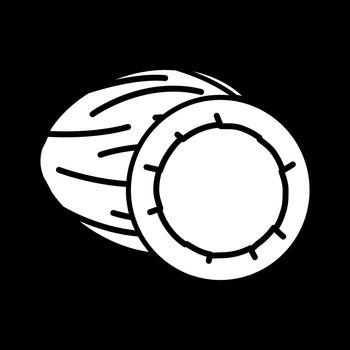 Coconut dark mode glyph icon