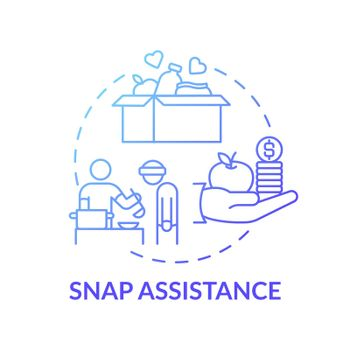 SNAP assistance concept icon