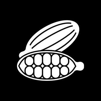 Cocoa beans dark mode glyph icon