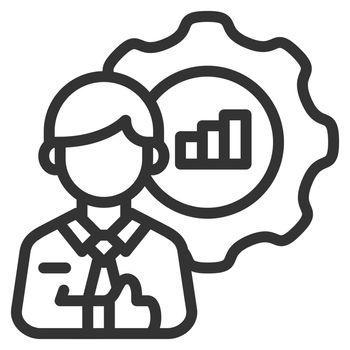 Skill icon design outline style