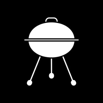 Grill with closed lid dark mode glyph icon