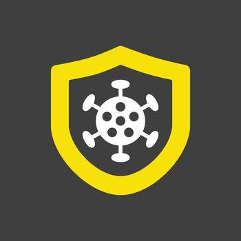 Corona virus protection vector icon