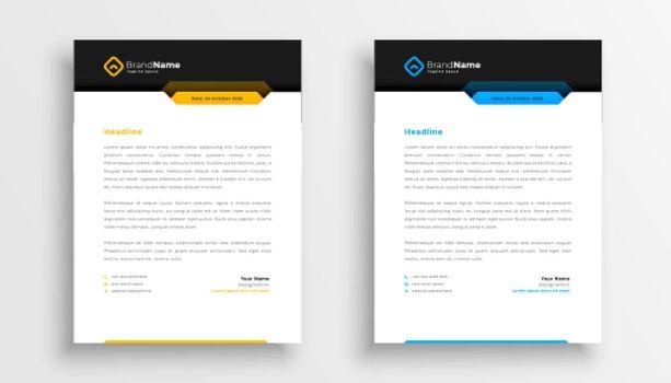company letterhead design in modern style