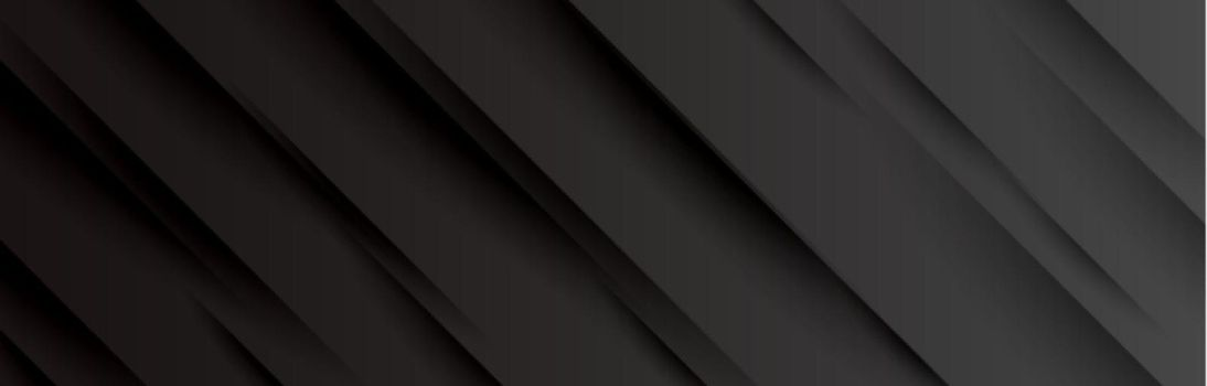 black wide banner with shadow lines design