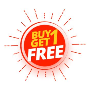 buy one get one free shopping offer design