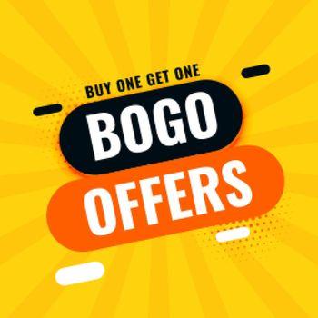 bogo buy one get one sale offer banner