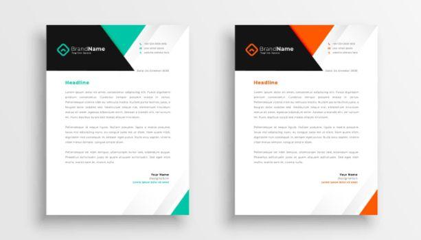 simple letterhead design for your business