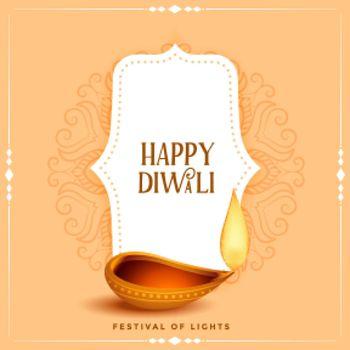 religious happy diwali indian festival card design