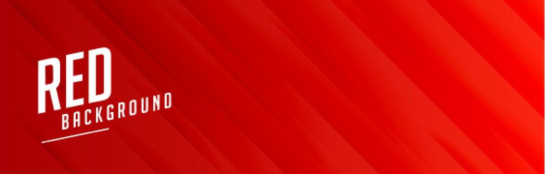 red wide banner with lines pattern design