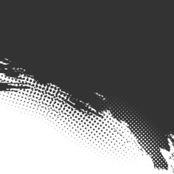 grunge halftone background in black and white color