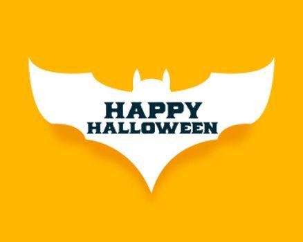 happy halloween background in paprcut style bat