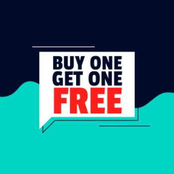 flat buy one get one free banner design