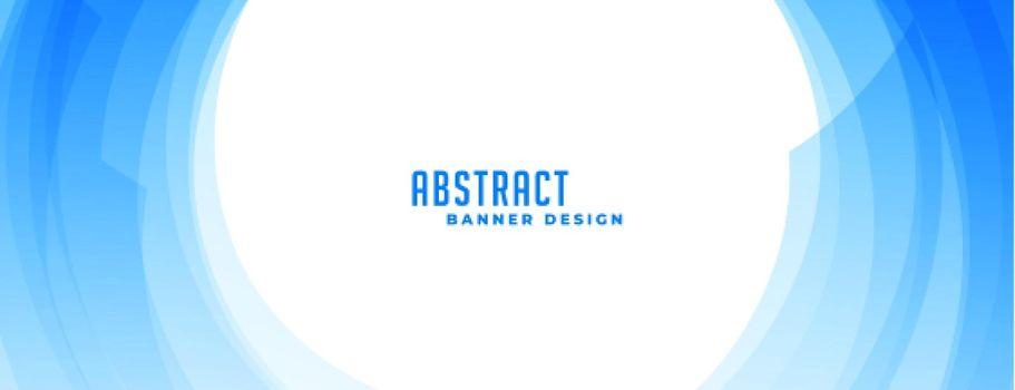 circular blue abstract wavy banner design