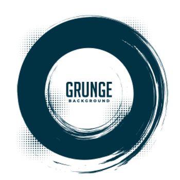 grunge halftone circular frame background