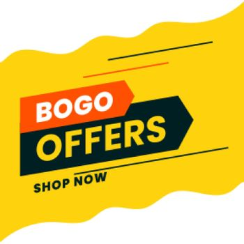 buy one get one shopping offer background