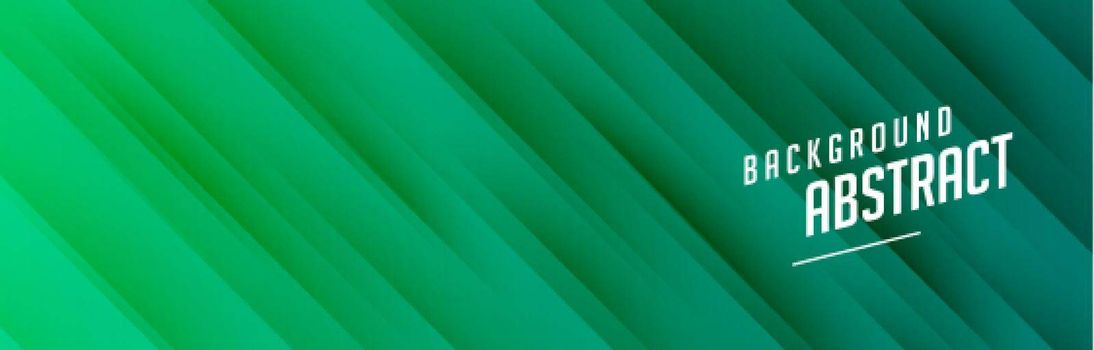 green banner with diagonal lines design