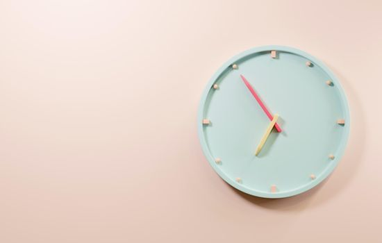 Office clock icon. Round business watches with time arrows hour and minutes