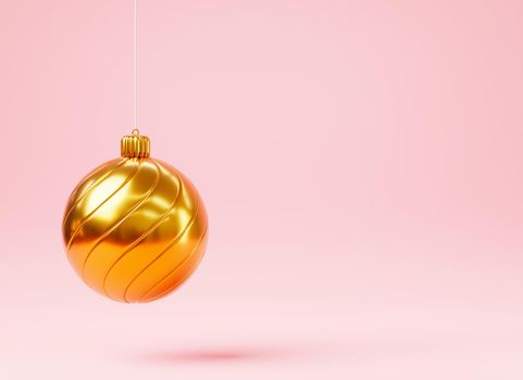 Christmas ball colorful decoration hanging isolated