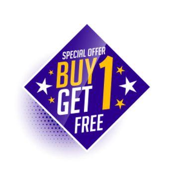 buy one get one free bogo sale banner
