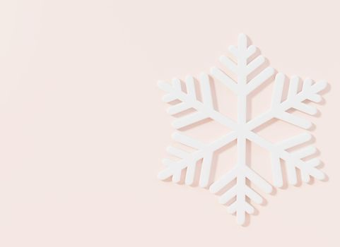 Snowflakes Christmas on pink pastel background