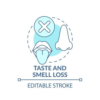 Lossing taste and smell concept icon