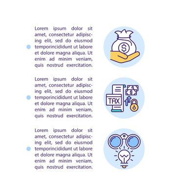Supporting business sector concept icon with text