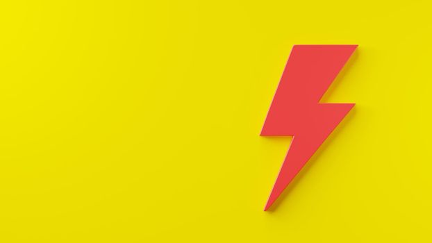 Lightning Icon, electric power element logo, Energy or thunder electricity symbol