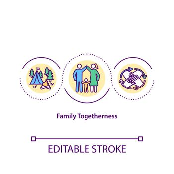 Family togetherness concept icon